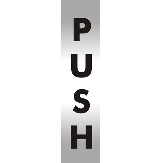 Picture of Push Brushed Aluminium Office Sign
