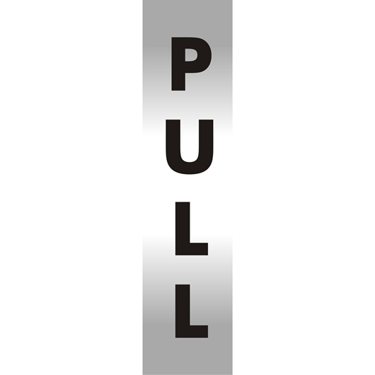 Picture of Pull Brushed Aluminium Office Sign