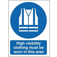 Picture of High Visibility Clothing Must Be Worn In This Area Sign