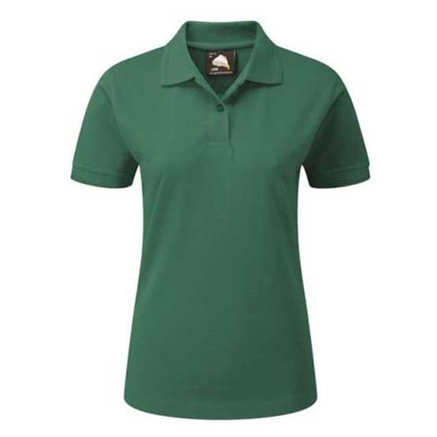 Picture of Womens Bottle Green Polo Shirt