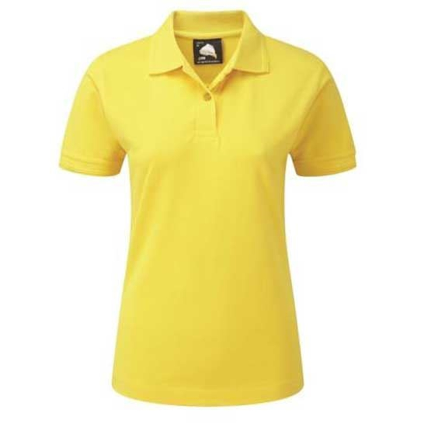 Picture of Womens Yellow Polo Shirt