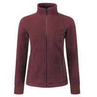 Picture of Womens Burgundy Fleece Jacket
