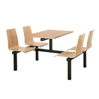 Picture of Wooden Seat Canteen Tables