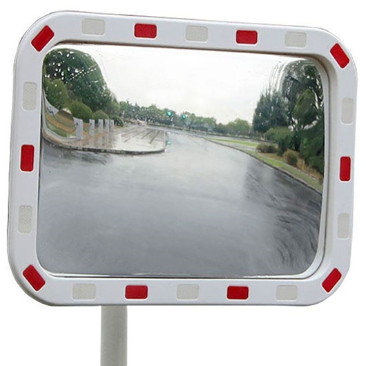 Picture of Rectangular Traffic Mirrors with Reflective Edges